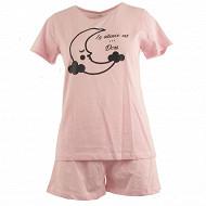 Pyjama short femme ROSE T46/48