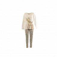 Pyjama long manches longues licence femme GRIS CHINE MICKEY T46/48