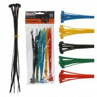 Lot de 50 attache-câbles