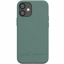 Just Green Coque souple pour iphone 12 mini vert JGCOVIP1254NG