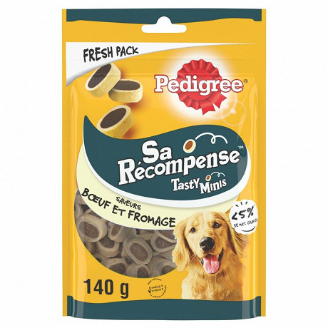 Pedigree sa récompense mini bouchées boeuf fromage 140g