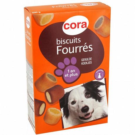 Cora biscuits fourrés pour chien 500g