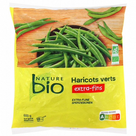 Nature bio haricots verts extra fins  600g