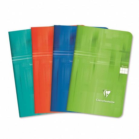 Clairefontainte - Cahier de textes reliure intégrale 17x22 cm 148 pages grands carreaux