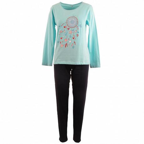 Pyjama long manches longues TURQUOISE/MARINE T50\52