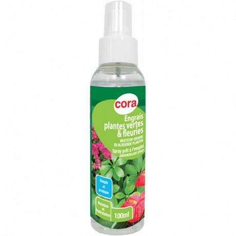 Cora engrais plantes vertes et fleuries spray prêt à l'emploi 100 ml