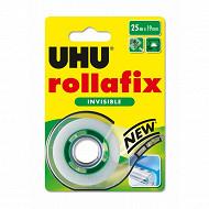 Uhu rollafix ruban adhésif invisible dévidoir 25mx19mm