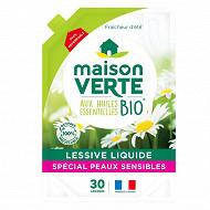 Maison verte lessive écolabel fraicheur d'été 1.92l 30 lavages
