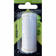 Style couture fil polyester 200m blanc