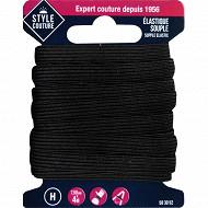 Style couture élastique souple 7,5mm x 4m noir
