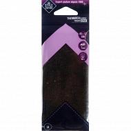 Style couture thermocollant spécial jean 45 x 12cm noir