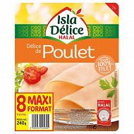 Isla Délice - délice de poulet 100% filet halal 8 tranches 240g