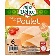 Isla Délice - délice de poulet halal 6 tranches 180g