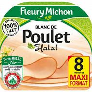 Fleury Michon blanc de poulet halal 8 tranches fines 240 g