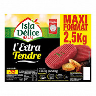 Isla Délice steaks hachés extra tendre vrac halal x32 2.5kg