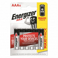 Energizer 6 piles Max AAA (lr03)