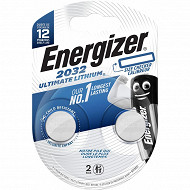 Energizer 2 piles boutons CR2032 lithium performance