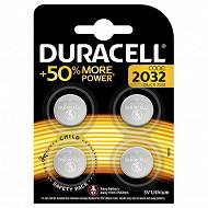 Duracell 4 piles pour appareil electronique cr2032