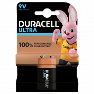 Duracell pile 9 volts ultra power