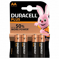 Duracell plus power aax4