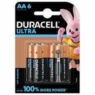 Duracell 6 piles alcalines AA (LR6) ultra power