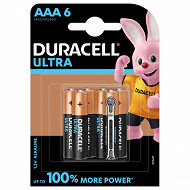 Duracell 6 piles alcalines AAA  (LR03) ultra power