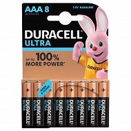 Duracell  ultra power AAA x 8