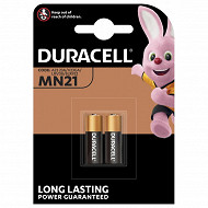 Duracell 2 piles miniatures MN21