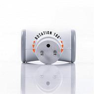 Watt&Co biplite grise à tête rotative 180° -16A multiprise