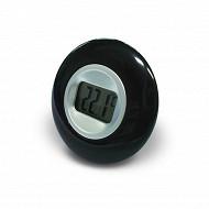 Otio thermomètre forme ronde noir