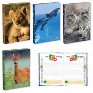 Agenda scolaire 120x170 384p animaux sauvages