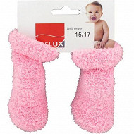 Bottons cocooning antidérapants Influx ROSE 0\6MOIS