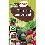 Cora terreau universel 20 litre utilisable en agriculture biologique