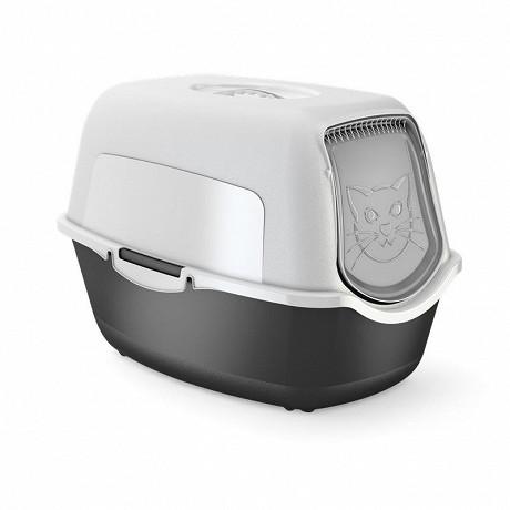 Maison de toilette Noir blanc pour chat inclus filtre