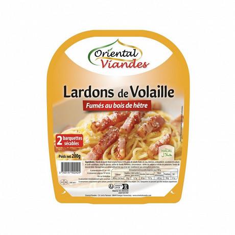 Oriental Viandes lardons de volaille fumé halal x2 200g