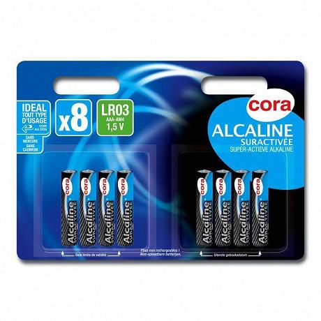 Cora 8 piles AAA (LR03) suractivées