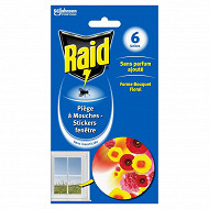 Raid 6 pieges stickers vitres bouquet floral