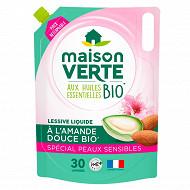 Maison verte lessive recharge peaux sensibles 1.8l 30 lavages