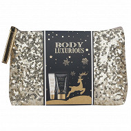 Trousse bain dore strass body luxurious