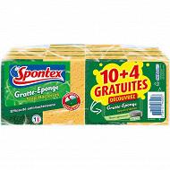 Spontex gratte eponge stop- bacteries + secret d'antan 10+4