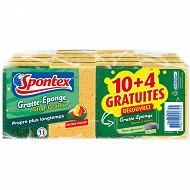 Spontex gratte éponge stop graisse secret d'antan 10 + 4 offerts