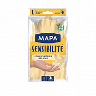 Mapa gants latex satiné taille L