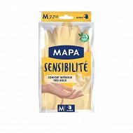 Mapa gants latex satiné taille M