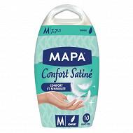 Mapa 10 gants douceur satiné taille M