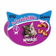 Whiskas boîte friandises pour chat les irrésistibles au saumon 60g