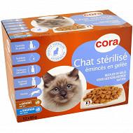 Cora pack gelée chat stérilisé 12x85g