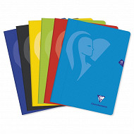 Clairefontaine cahiers piqûres petits carreaux 24X32 48 pages 90g metric 5 couleurs assorties