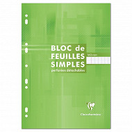 Clairefontaine bloc feuilles simples 210x297 160 pages seyes