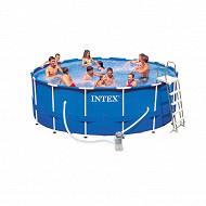 Intex piscine tubulaire 4M57x1M22 ronde