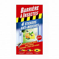 Barrière à insectes stickers vitres anti mouches x4